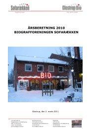 årsberetning 2010 biografforeningen sofarækken - Glostrup Bio