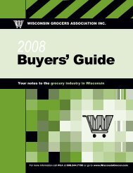 Buyers' Guide - Wisconsin Grocers Association