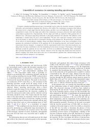 Linewidth of resonances in scanning tunneling spectroscopy - Igitur
