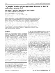 Can scanning tunnelling spectroscopy measure the density of ... - Igitur