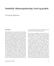 Semiotisk vidensorganisering i teori og praksis - Biblioteksarbejde.dk