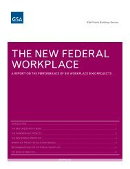 THE NEW FEDERAL WORKPLACE - GSA