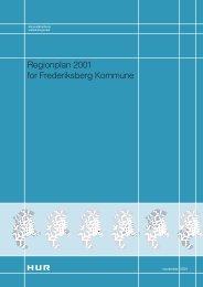 Regionplan 2001 for Frederiksberg Kommune