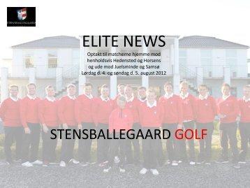 Referat fra sidste spillerunde - Stensballegaard Golf