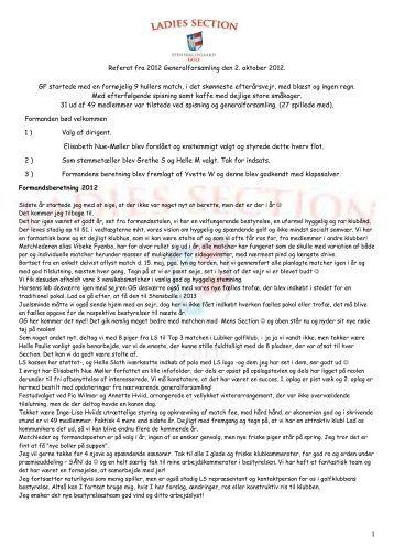 Referat fra generalforsamlingen 2012 - Stensballegaard Golf