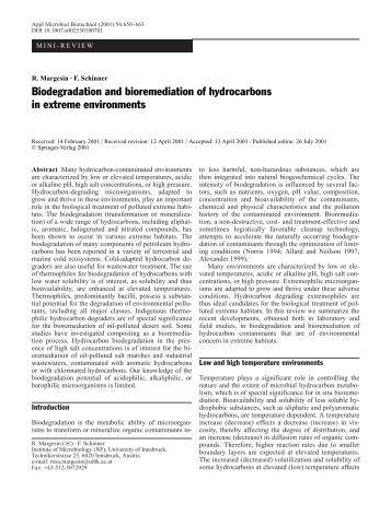 Essay on Environmental Biotechnology