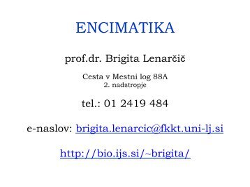 ENCIMATIKA - Department of Biochemistry and Molecular Biology