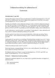 Uddannelsesordning for uddannelsen til Gastronom - khru.dk
