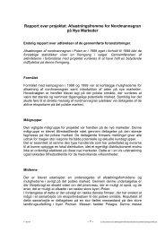 Rapport over projektet: Afsætningsfremme for Nordmannsgran på ...