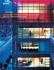 The Gensler Design + Performance Index The U.S. Workplace Survey