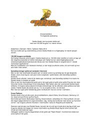 Press Release GH in GameStop stores : DK - Press releases RSS
