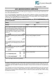Anmeldelse til gruppelivsforsikring - Handelsskolernes Lærerforening