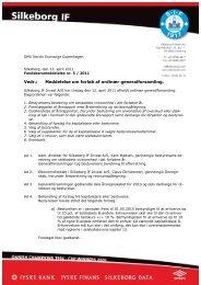 Meddelelse om forløb af ordinær generalforsamling. - Silkeborg IF