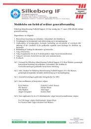 04/2004 (170304) - Forløb af generalforsamling - Silkeborg IF fodbold