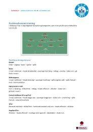 Positionsbestemt træning - Silkeborg IF fodbold