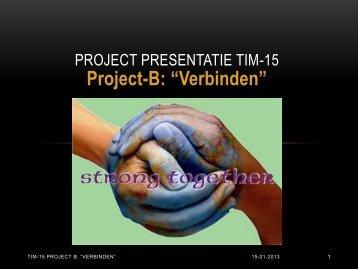 Project Presentatie TIM-15 - topopleidingen.org
