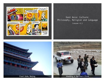 East Asia: Culture: Philosophy, Religion and Language