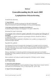 Generalforsamling den 28. marts 2009 - Lynghøjskolens ...