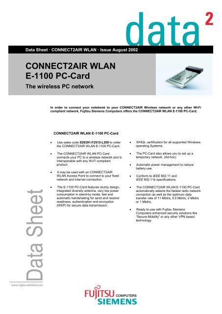 CONNECT2AIR WLAN E-1100 DRIVERS FOR WINDOWS DOWNLOAD