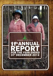Download the Annual Report - Forestry South Africa