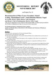 MONITORING REPORT NOVEMBER 2007 - Himalayan Project