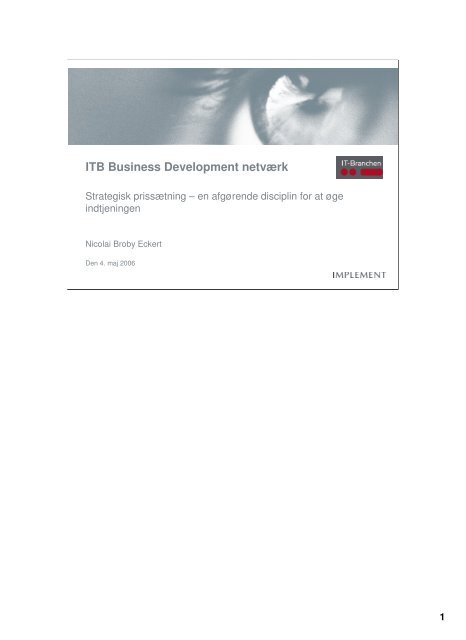 (Microsoft PowerPoint - 060504Pricing - ITB Business Development ...