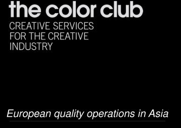 European quality operations in Asia