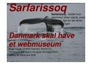 Sarfarissoq Danmark skal have et webmuseum