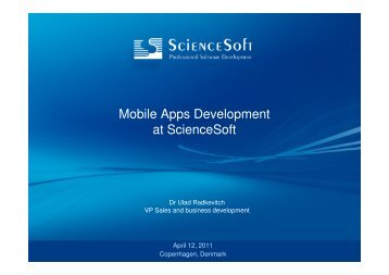 Mobile Apps Development at ScienceSoft