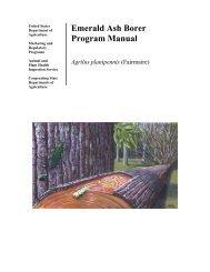 Emerald Ash Borer Program Manual - Phytosanitary Resources