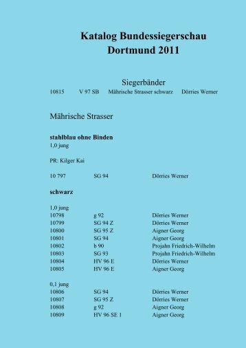 Jungtierbesprechung 2011 - sv-maehrischer-strasser-und ...