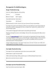 Årsrapporter 2008 - Raseduen