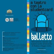 studentcard balletto.. - Teatro Comunale di Modena