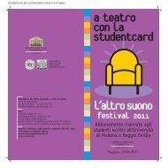 STUDENT21x21 2010 ALTROSUONO - Teatro Comunale di Modena