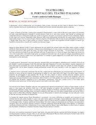 MODENA: LE NOZZE DI FIGARO - Teatro Comunale di Modena