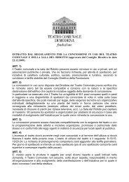 Estratto regolamento.. - Teatro Comunale di Modena