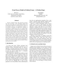 From Process Model to Problem Frame – A Position Paper - CRI