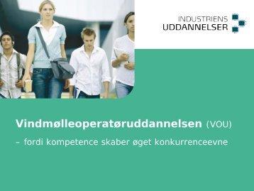 Vindmølleoperatøruddannelsen (VOU) - Industriens Uddannelser