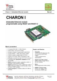 Charon I - Embedded Ethernet module Manual - Wireless Products