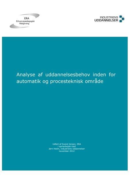 AMU analyse automatik - Industriens Uddannelser