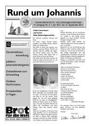 Gemeindebrief Nr. 3/41 vom 01. Juli bis 30. September 2011