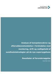 Analyse af kompetencekrav og efteruddannelsesbehov i forbindelse ...
