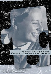 Advanced Practice Nursing: Pioneering Practices in ... - Dying Well
