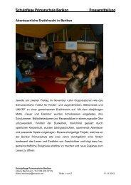 Erzaehlnacht 2012 - Primarschule Berikon