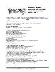 Volume 3, Issue 6, July 30, 2004 - Northeast Aquatic Nuisance ...