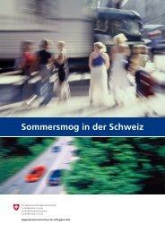 Sommersmog in der Schweiz - Eidgenössische Kommission für ...