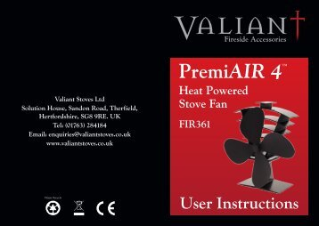 Valiant 2 and 4 Blade Stove Fan Instructions copy - TermaTech