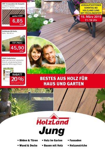 """Frühjahrs-Beilage """"Bestes aus Holz für Haus und Garten"""""""