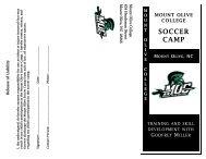 2011 Camp brochure MOC - Mount Olive College