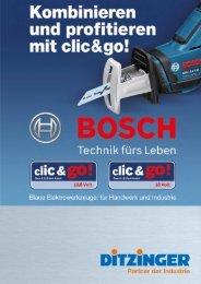 Flyer BOSCH clic & go - Werner Ditzinger GmbH